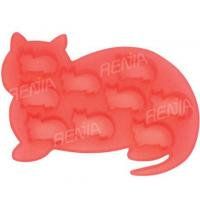 Wholesale RENJIA cat ice cube tray cat shape silicone ice tray silicone ice cube tray cat shape from china suppliers