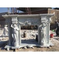 White Marble electric fireplace mantel Manufactures