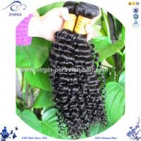 Buy cheap ZHIHUI No Chemical Process Human Hair Extension, Peruvian Virgin Kinky Hairpiece from wholesalers