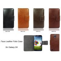 Buy cheap Faux Leather Folio Case for Galaxy S4 from wholesalers