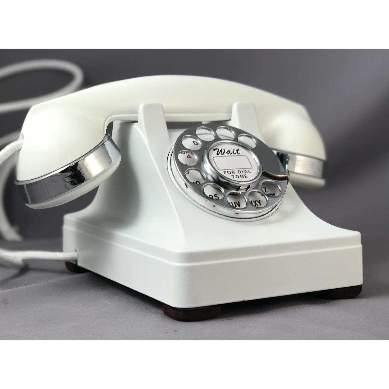 Wholesale 302 - White - Chrome Trim Antique Phones from china suppliers