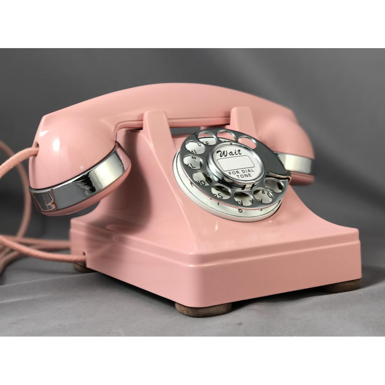 Wholesale 302 - Pink - Chrome Trim Antique Phones from china suppliers