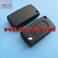 Buy cheap Peugeot 307 2 button remote key case no logo with battry place from wholesalers