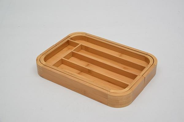 Quality Bamboo Expandable Utensil Tray for sale