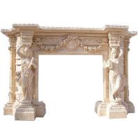Buy cheap Design Outdoor stone granite Hand Carved limestone Fireplace interior fireplace, decorative from wholesalers