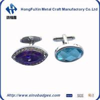 Wholesale Mans Copper Plated Silver Oval Diamonds Wedding Cufflink with Gift Box Available from china suppliers