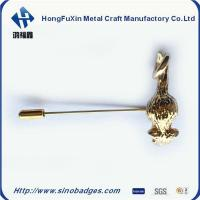 Buy cheap Boutique Enamel Gold Plated Embedded Brooch Pin product