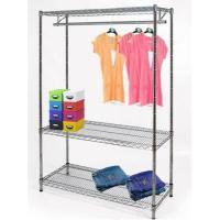Buy cheap Heavy duty NSF 3 tier chrome wire clothing rack with wheels YB-WS035 from wholesalers