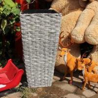 Buy cheap Wholesale creative Large outdoor PP plastic rattan planter with high quality from wholesalers