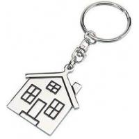 Buy cheap Simple and Cheap Zinc Metal House Shaped Keyrings Engraved On Back HK-001 from wholesalers