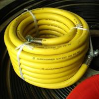 "50′ Length Yellow Jackhammer Rubber Air Hose with 3/4"" Universal (Chicago) Couplings Manufactures"