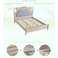 Buy cheap Upholstred Bed with Nightshands Wood Base Slats Platform from wholesalers
