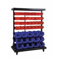 Buy cheap Industrial Warehouse Plastic Stackable Storage Bins Mobile Double-Side Storage Bin Rack HAP350706 from wholesalers