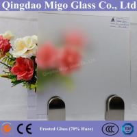 Wholesale 70% Frost Degree Extra Clear Acid Etched Frosted Glass from china suppliers