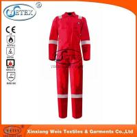 OEM Manufactory! Mens red Cotton/Polyester Reflective Safety Boiler Suit Overall Workwear