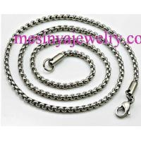 China 3MM Mens Stainless Steel Necklace Chain on sale