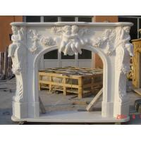 white marble fireplace FIRE016 Manufactures
