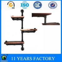 Buy cheap Modern Iron Pipe Wood Base Three Tiers DIY Floating Bookshelves Furniture from wholesalers