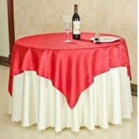 Buy cheap Custom Size Polyester Jacquard Table Cloth and Embroidery Fitted Table Cloth for Sale from wholesalers