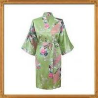 China In stock white satin floral bridesmaid bath robes for wholesale on sale
