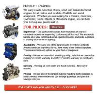 Engines for Forklifts Manufactures