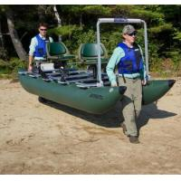 Buy cheap CE certificate catamaran inflatable fishing boat with outboard motor for sale from wholesalers