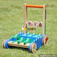 Buy cheap New design cartoon crocodile toy wooden push walkers for babies W16E059 from wholesalers