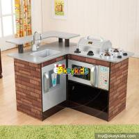 Wholesale New hot pretend play toy children wooden corner kitchen toy W10C258 from china suppliers