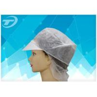 Buy cheap Women SPP Snood Disposable Surgical Caps With Peak And Hairnet from wholesalers