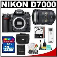 Nikon D7000 Digital SLR Camera Body with 18-200mm VR II Zoom Lens + 32GB Card + Filter + Case + Acce Manufactures