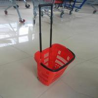 Shopping Basket Cheap Plastic Mesh Baskets with Two Handles