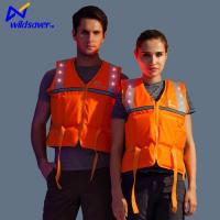 LED Flashing Reflective Safety Inflatable Life Vest Jackets for Mens and Womens Manufactures