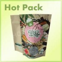 Buy cheap Stand up Zipper Pouch Kraft Paper Bag For Food Packaging With Round Window from wholesalers