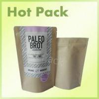 Buy cheap Resealable Kraft Stand Up Pouches , Heat Seal Vacuum Food Storage Bags from wholesalers