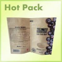 China Dry Food Packaging Custom Printed Kraft Paper Stand Up Pouch For Blueberry on sale