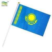 Buy cheap 14x21cm Plastic Stick Hand Kazakhstan Hand Flags from wholesalers