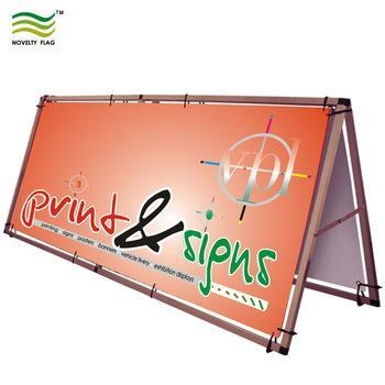 Buy cheap A Frame Aluminum Outdoor Display Digital Print Banner Stand from wholesalers