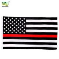 Buy cheap USA Firefighter Thin Red Line American Flag 3x5ft from wholesalers