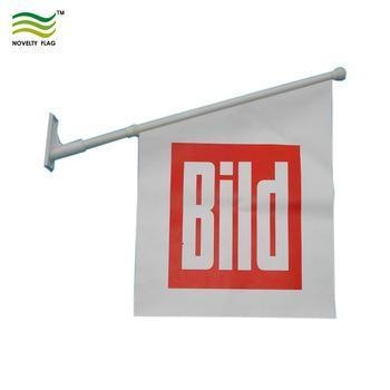Buy cheap 40x60cm with 60cm PP Flagpole Custom Advertising PVC Wall Flag from wholesalers