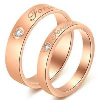 Buy cheap Women gold jewelry rose gold couple rings diamond engagement ring from wholesalers