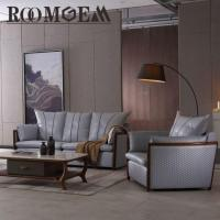 Buy cheap Leather Couch with Wood Trim from wholesalers