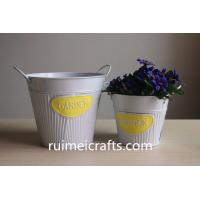 Buy cheap glossy paint white pail set of 2 metal bucket from wholesalers