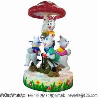 Buy cheap Amusement Park Coin Operated Kiddie Rides Rabbit Carousel For Sale from wholesalers