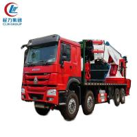 Buy cheap 50Ton Sinotruk HOWO Heavy Duty Crane Trucks from wholesalers