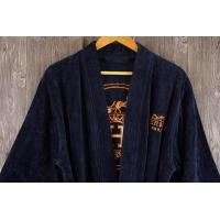 Buy cheap Luxury gift bathrobe velour with Back of robes embroidery logo from wholesalers