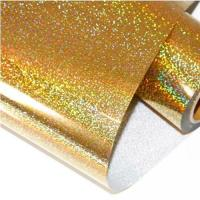 Buy cheap Hologram (bright golden color) best selling hologram hot foil stamping vinyl leather transfer film from wholesalers