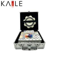 Buy cheap toy series 91 Domino Color Dot Train Mexican Domino Game Set in an Aluminum Case from wholesalers