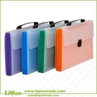 Buy cheap plastic expanding file bag with handle from wholesalers