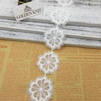 Buy cheap Golden Knit 5cm White Flower Lace Trim for Home Textile HX146# from wholesalers