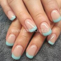 Buy cheap Custom french nai art sticker French manicure tip guides factory from wholesalers